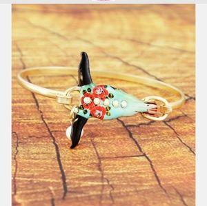 Jewelry - Crystal Rose Steer Head Bracelet